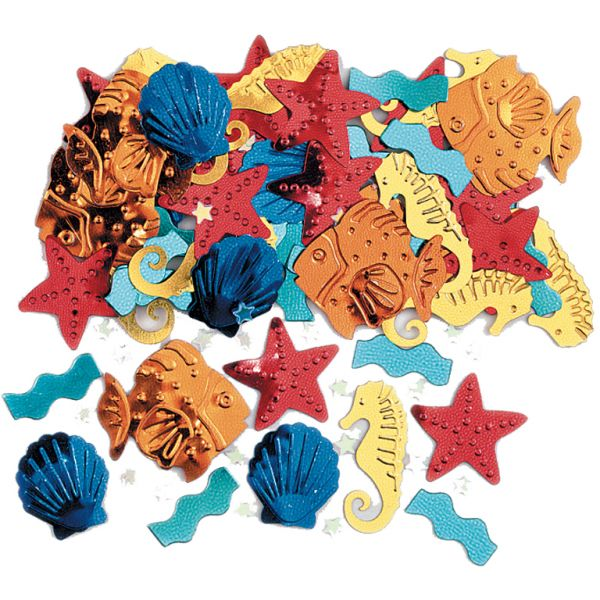 Sea Life Embossed Metallic Mix Confetti