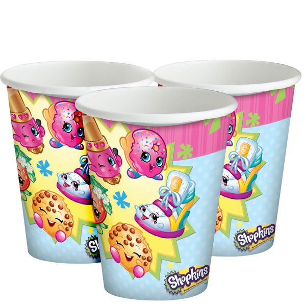 Shopkins Plastic Cups
