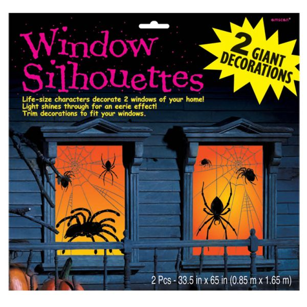 Spider Window Silhouettes