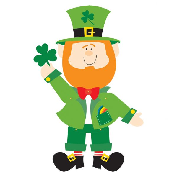 St. Patrick's Leprechaun Jointed Cutout