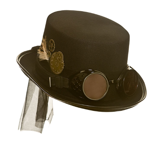 Steampunk Deluxe Hat with Goggles