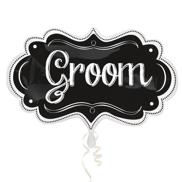 SuperShape Groom Chalkboard