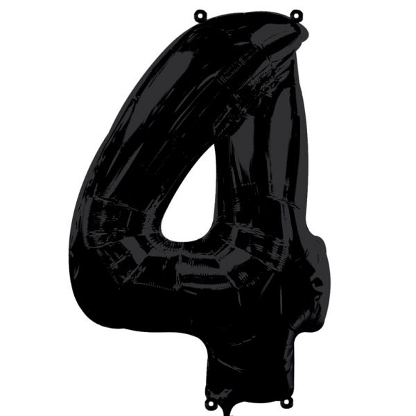 SuperShape Number 4 - Black
