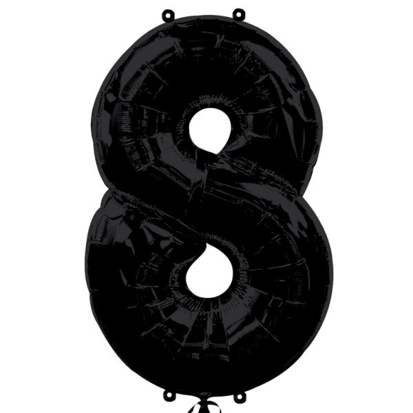 SuperShape Number 8 - Black