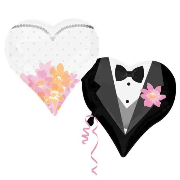 SuperShape Wedding Couple Hearts