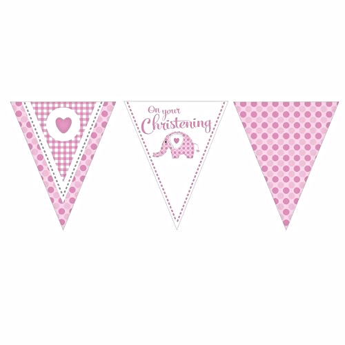 Sweet Baby Elephant Pink Pennant Banner