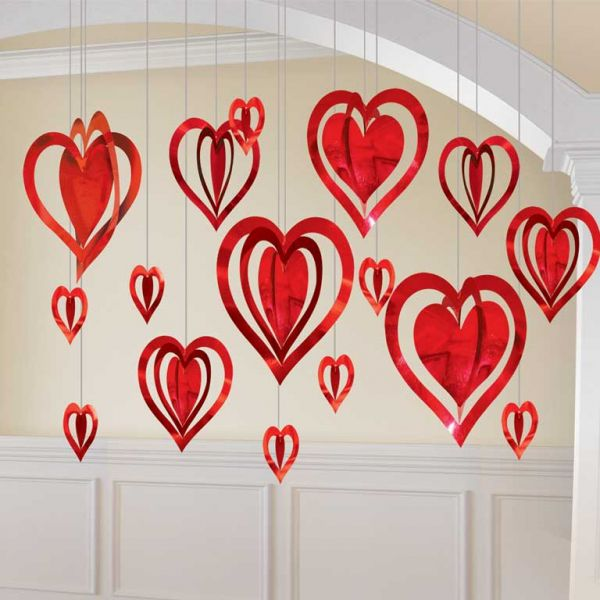 Valentine's Day 3D Foil Heart Decoration