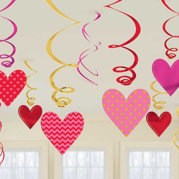 Valentine's Day Swirl Decorations
