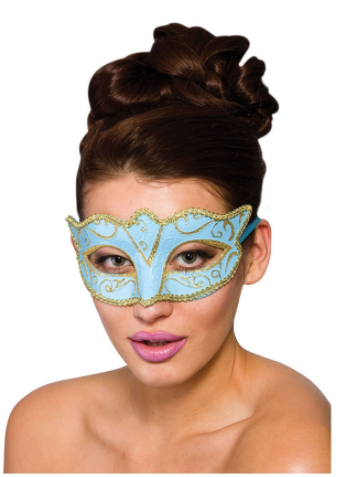 Verona Eye Mask - Blue & Gold