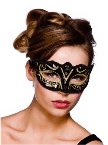 Verona Eye Mask - Gold Glitter