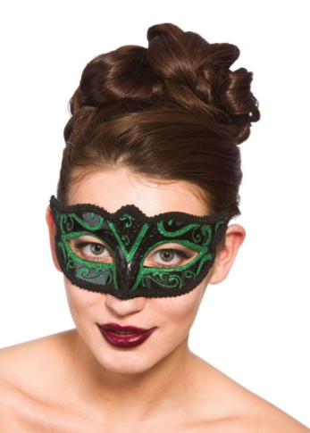 Verona Eye Mask - Green Glitter