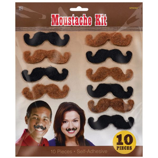Western Moustaches (10pk)